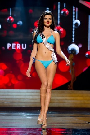 Miss Perú 2012, Nicole Faveron. AFP / END