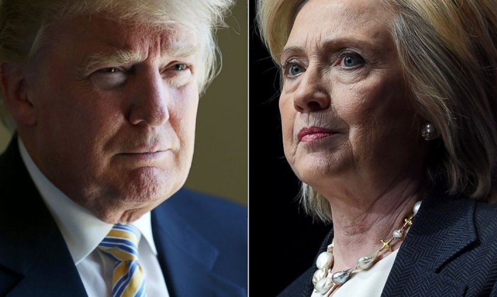 Donald Trump y Hillary Clinton, candidatos.