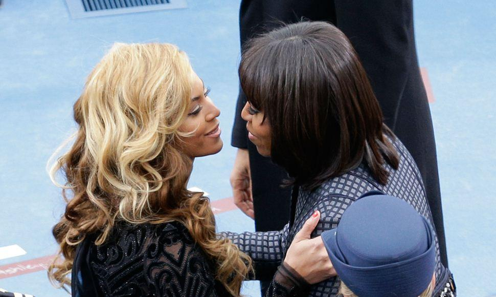 Michelle Obama y Beyonce.