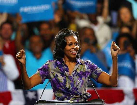 Un as de la campaña de Obama es su esposa y primera dama, Michelle Obama, muy popular en EU.  FOTOS: END/ AFP Y GETTY