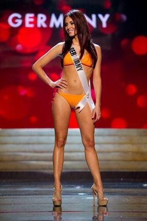 Miss Alemania 2012, Alicia Endemann. AFP / END