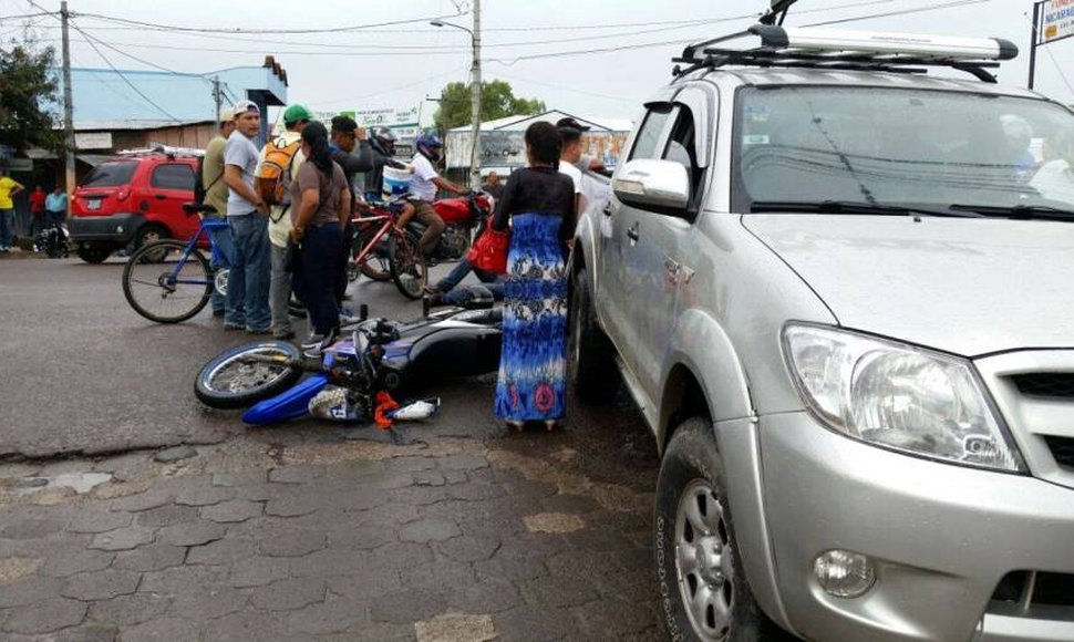 Uno de los accidentes registrados en Estelí.