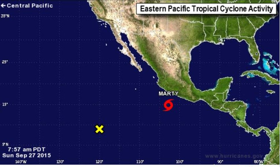 La tormenta tropical Marty.