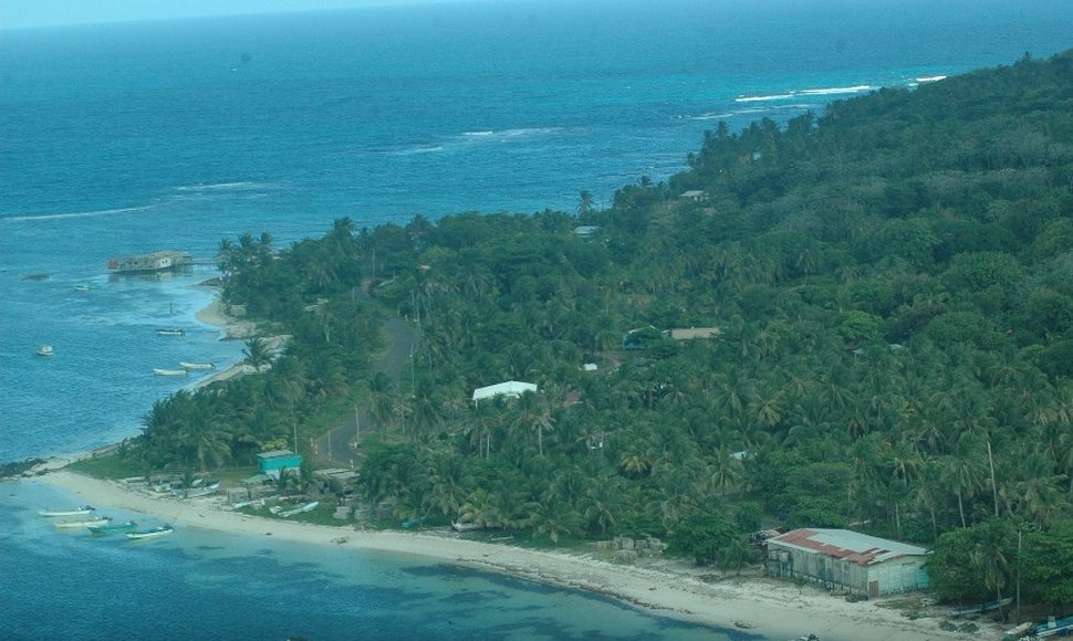 Vista de Little Corn Island.