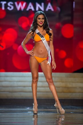 Miss Bolivia 2012, Yessica Mouton. AFP / END