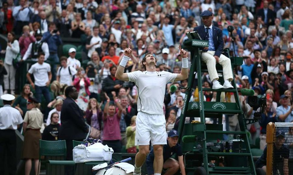 Andy Murray celebra su victoria