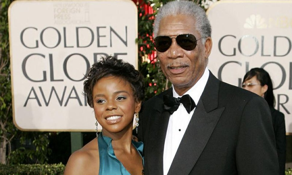 Morgan Freeman y E'Dena Hines.