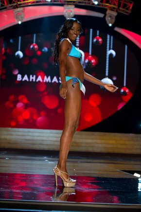 Miss Bahamas,Celeste Marshall. AFP / END