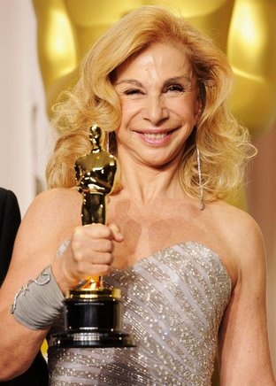 J. Roy Helland, ganadora del Oscar por mejor maquillaje para 'The Iron Lady'. AFP / END