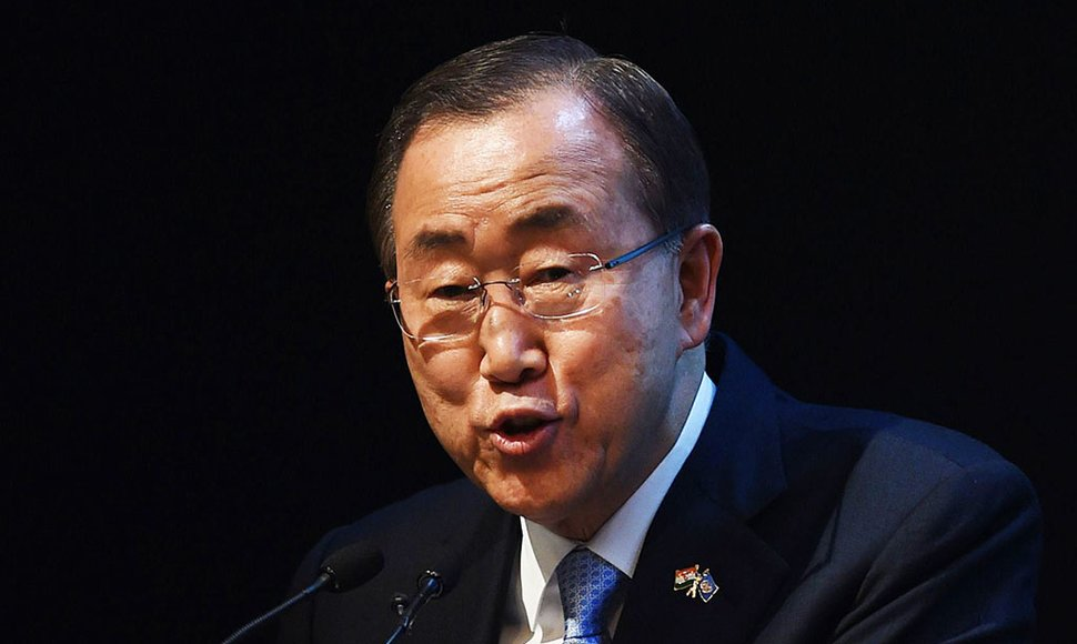 Ban Ki-moon, secretario general de la ONU.