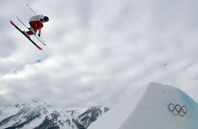 Accidentes en el slopestyle femenino en el Extreme Park. AFP / END