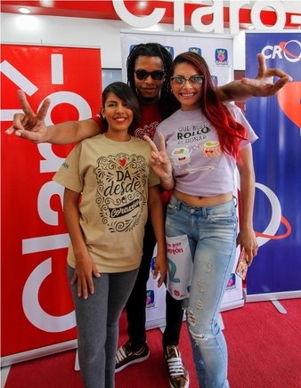 IDANIA VILLEGAS, CHARLOTH TOLEDO Y SIR WALLY.