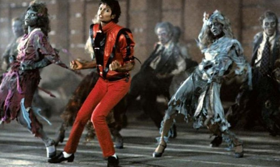 Michael Jackson en el video de Thriller.