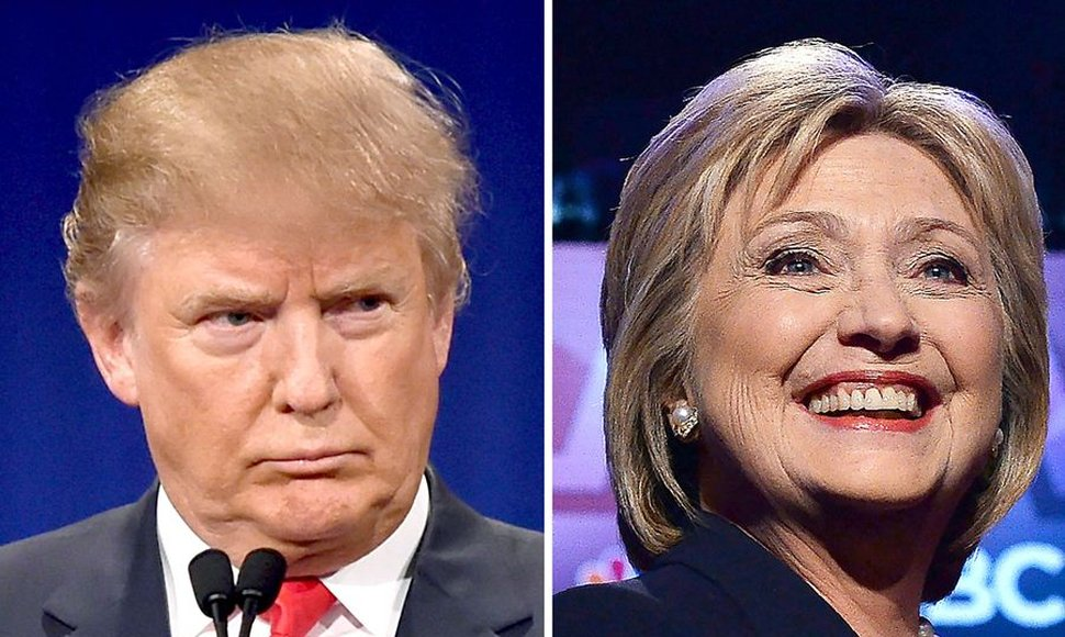 Donald Trump y Hillary Clinton.