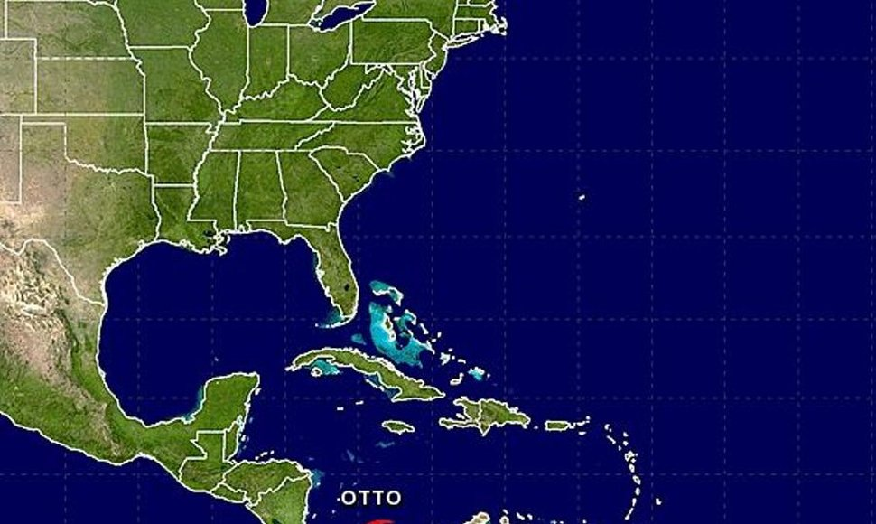Tormenta tropical Otto.