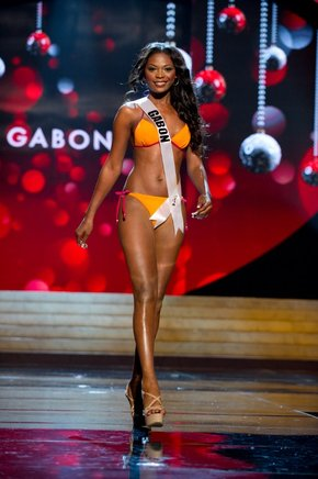 Miss Gabón 2012, Channa Divouvi. AFP / END
