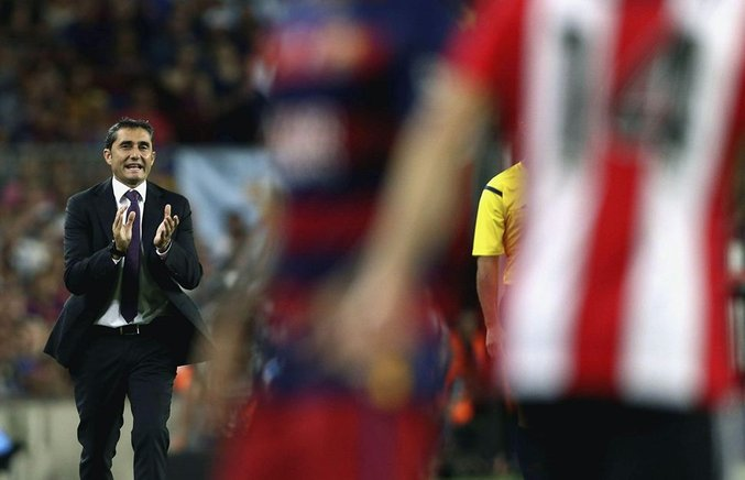 El entrenador del Athletic Club Ernesto Valverde.