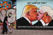 Donald Trump y Boris Johnson se besan en un mural pro-UE
