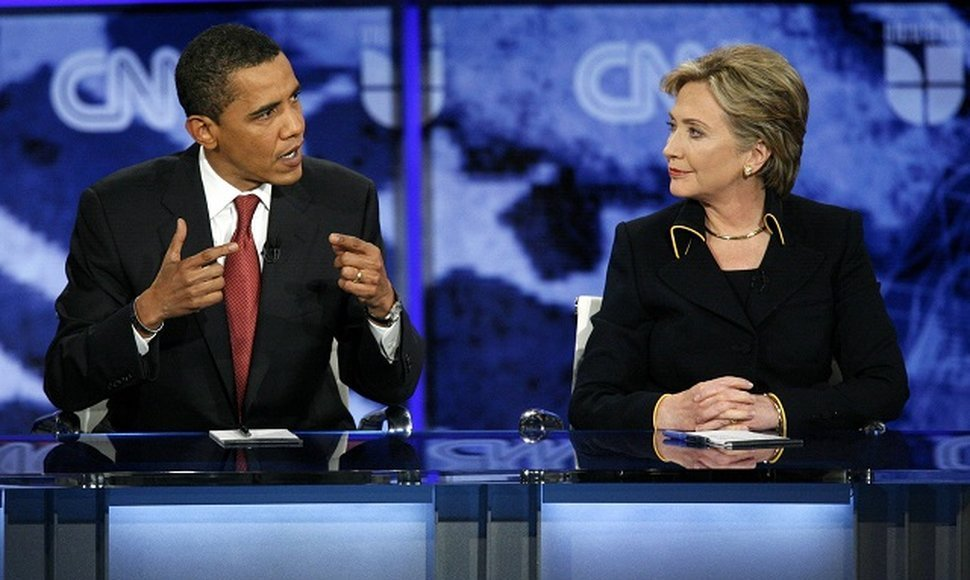 Barack Obama y Hillary Clinton.