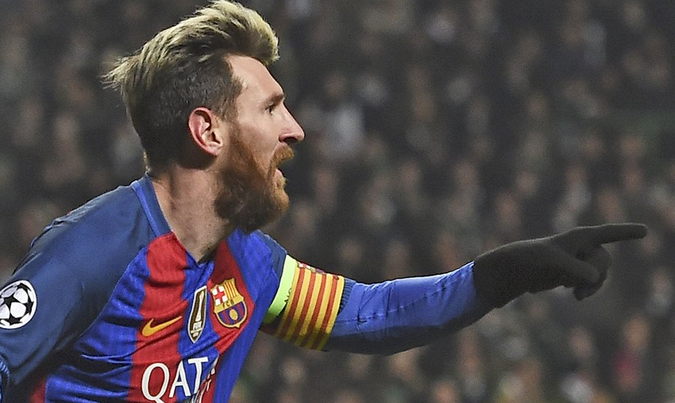 MESSI ANOTÓ UN DOBLETE ANTE EL CELTIC.