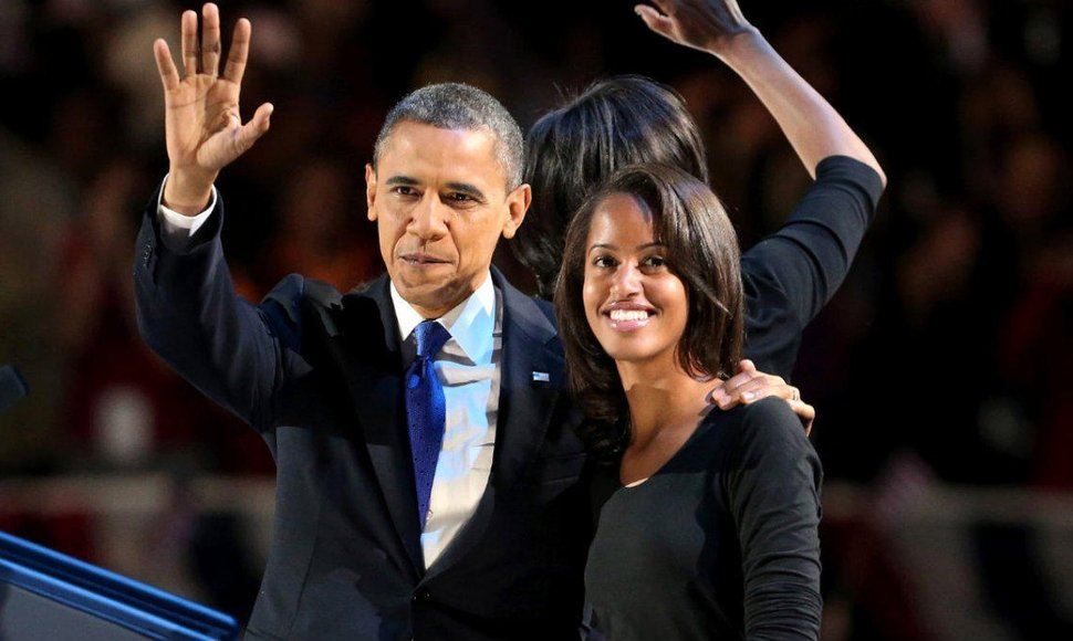 La hija mayor del presidente estadounidense, Barack Obama, Malia.