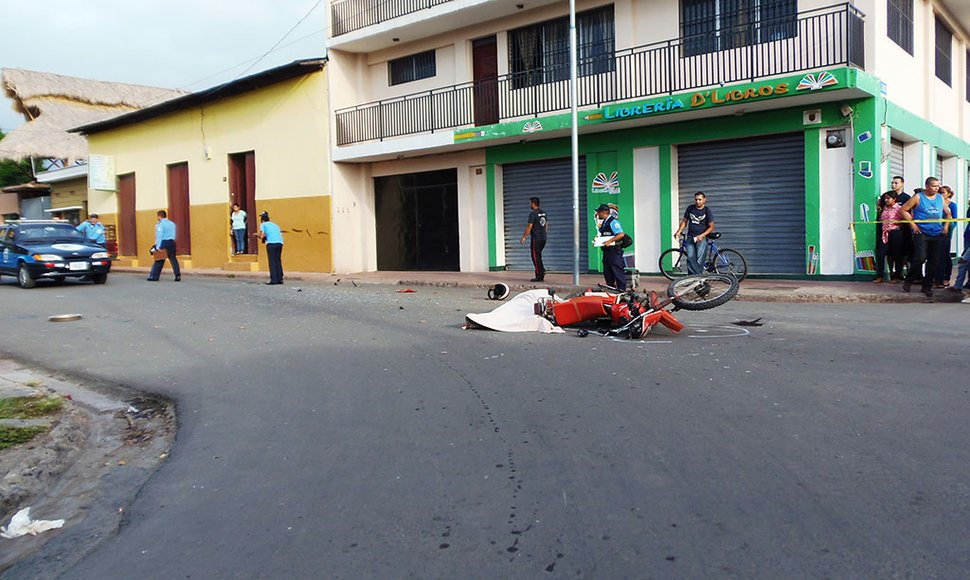 La escena del accidente en Estelí.