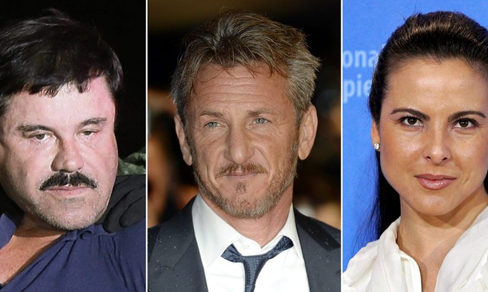 Joaquin 'El Chapo' Guzman, Sean Penn in London y Kate del Castillo.