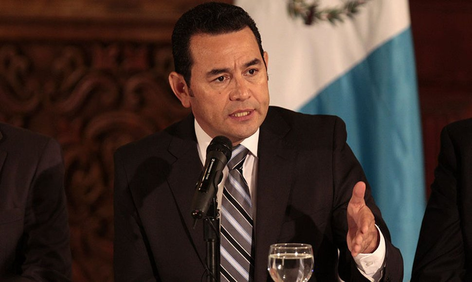 Presidente Jimmy Morales.