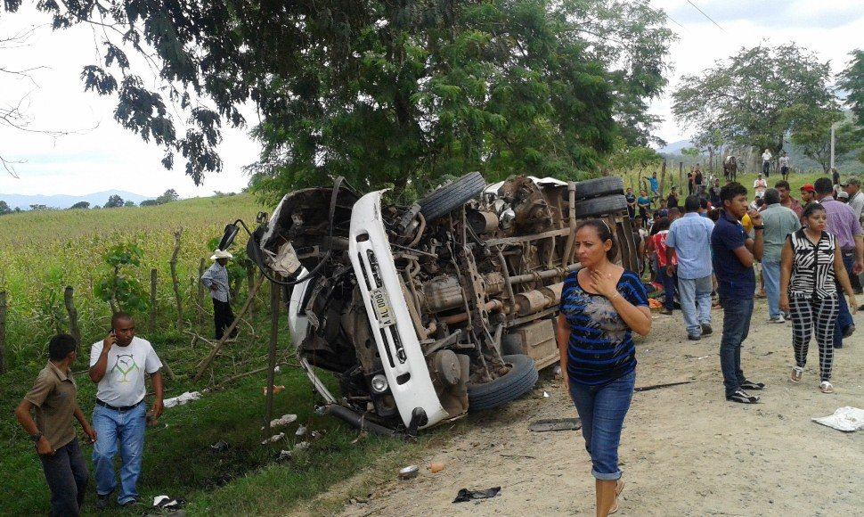 Uno de los accidentes registrados en Honduras.