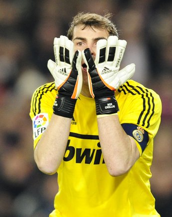 Iker Casillas, portero del Real Madrid, durante el partido. AFP / END