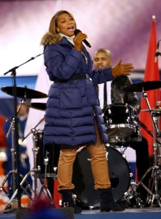 Queen Latifah en el evento del Super Bowl XLVIII realizado en el Estadio MetLife de Nueva Jersey. AFP / END