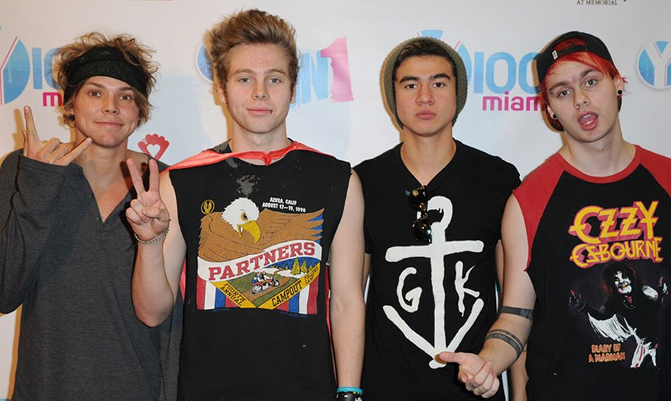 Integrantes de la banda 5 Seconds of Summer.