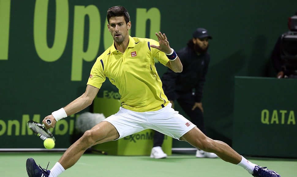 Novak Djokovic venció ayer a Dustin Brown.