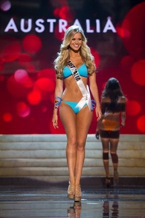 Miss Australia, Renae Ayris. AFP / END