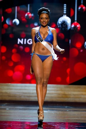 Miss Nigeria 2012, Isabella Agbor. AFP / END