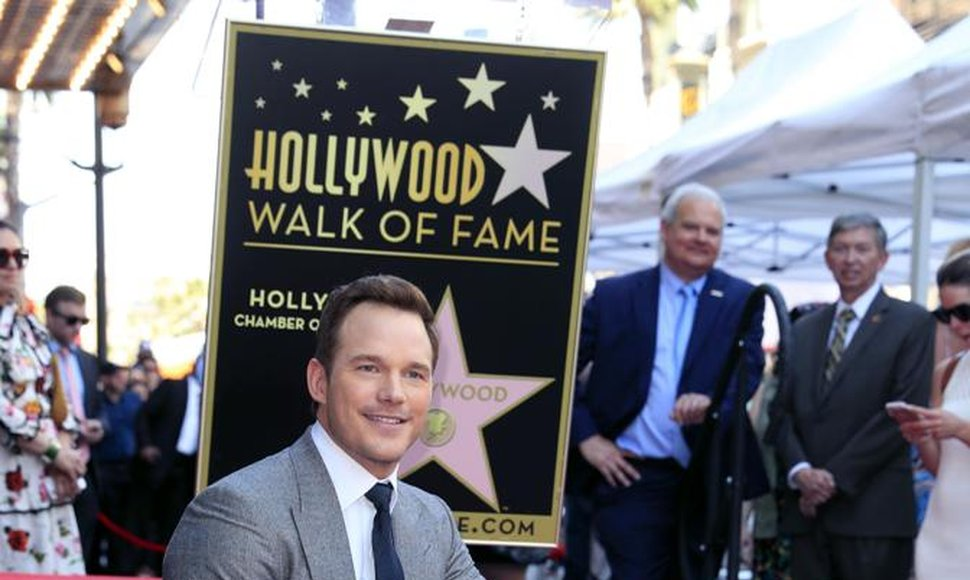 Chris Pratt recibió su estrella en Hollywood