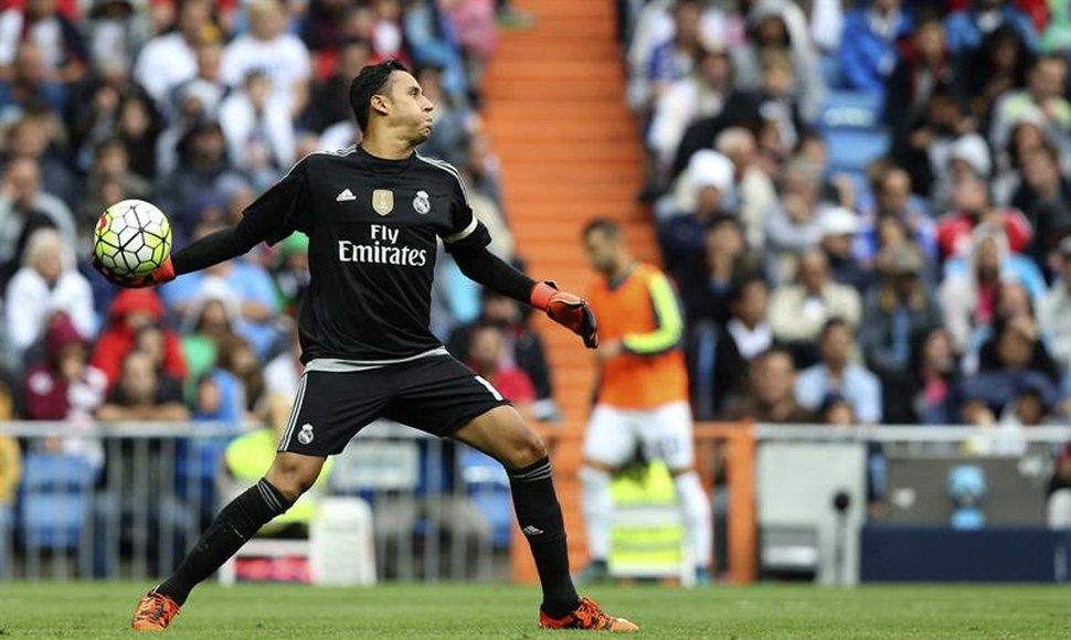 Keylor Navas, guardameta costarricense del Real Madrid.