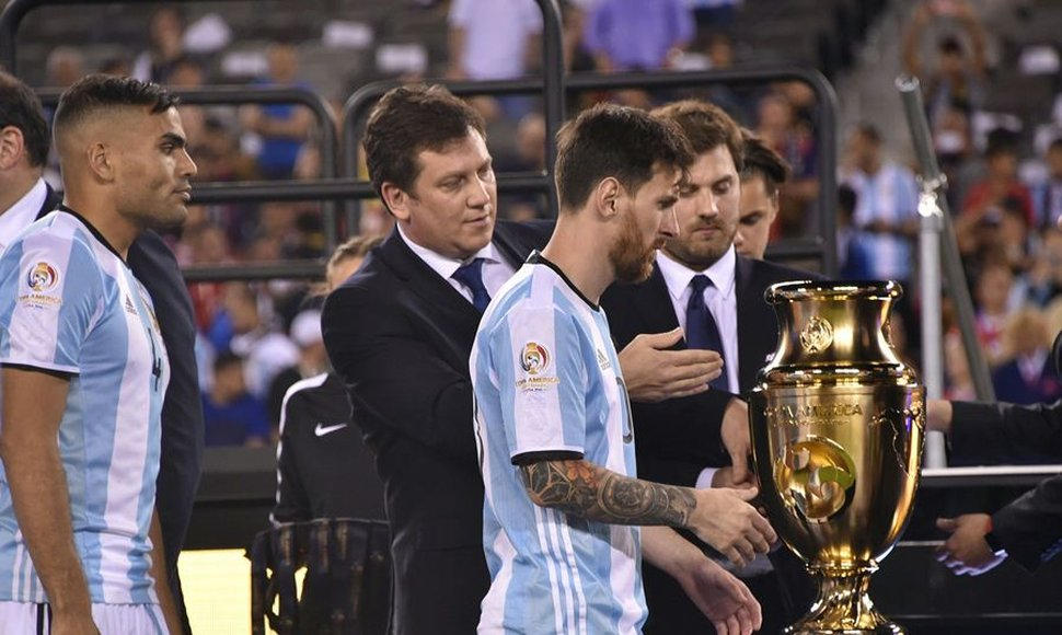 Messi en la final ante Chile.