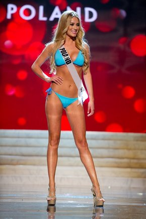 Miss Polonia 2012, Marcelina Zawadzka. AFP / END
