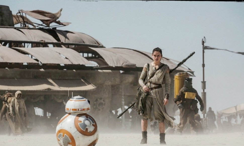 "Imagen de la película ""Star Wars: The Force Awakens""."