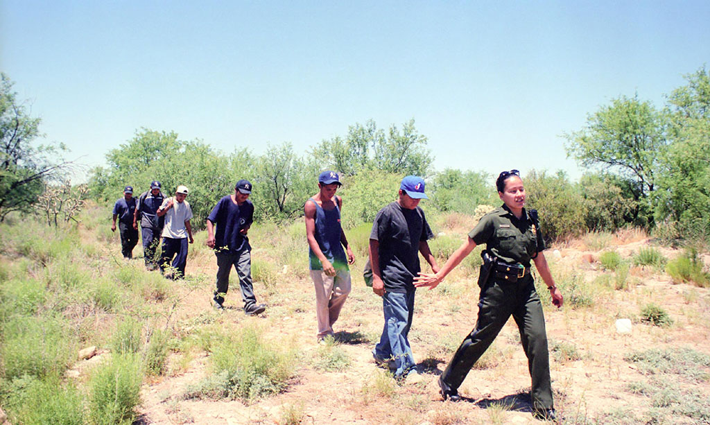 Captura de nicaragüenses indocumentados en Arizona, 2001. CORTESÍA END