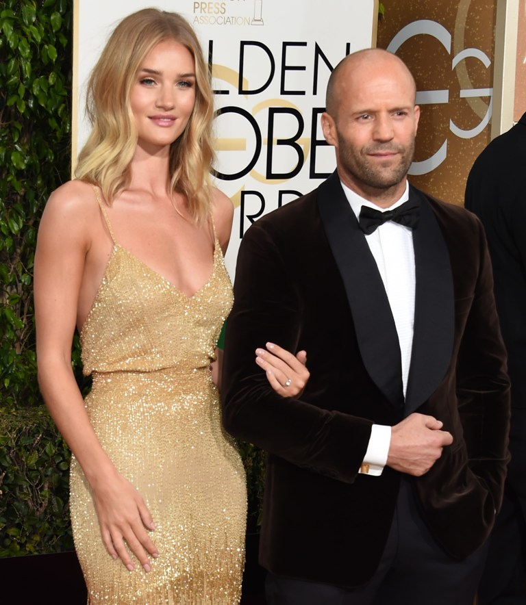 Rosie Huntington-Whiteley (i) and Jason Statham