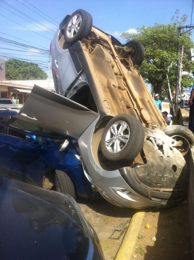 Accidente en Carretera a Masaya.