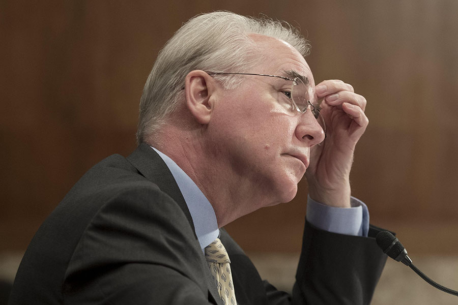Tom Price renunció a su cargo. EFE/END