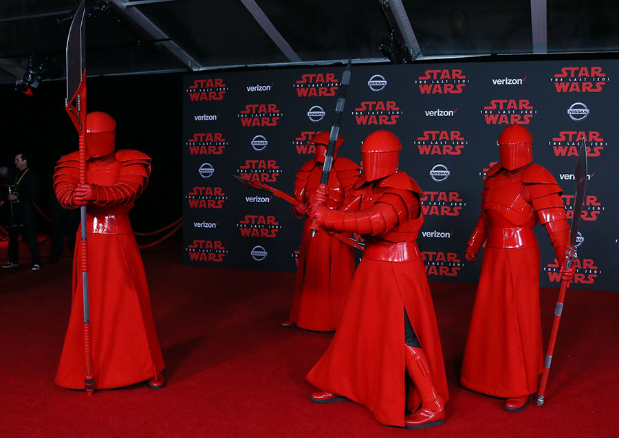 Star Wars, The Last Jedi, llega a los cines esta semana. AFP/END