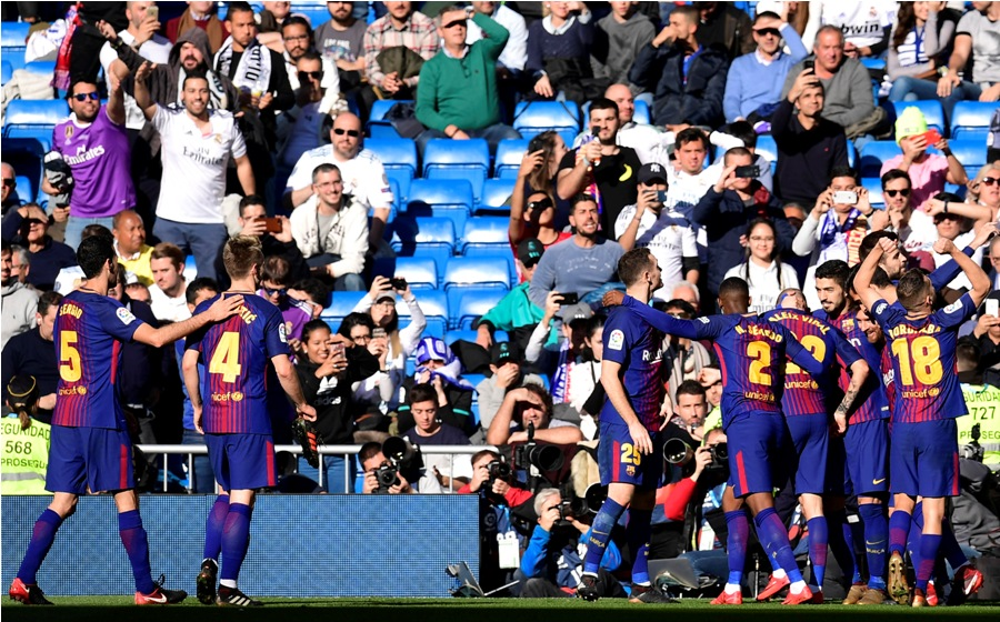 El Barcelona se aleja a 14 puntos del Real Madrid. Foto: AFP/END