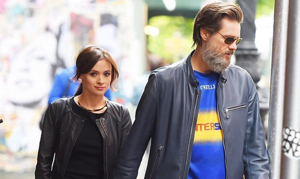 El actor estadounidense Jim Carrey y su exnovia Cathriona White.