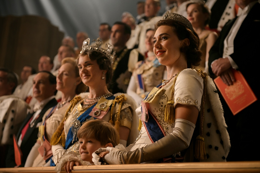 Escena de la serie The Crown, nominada a siete premios Befta.
