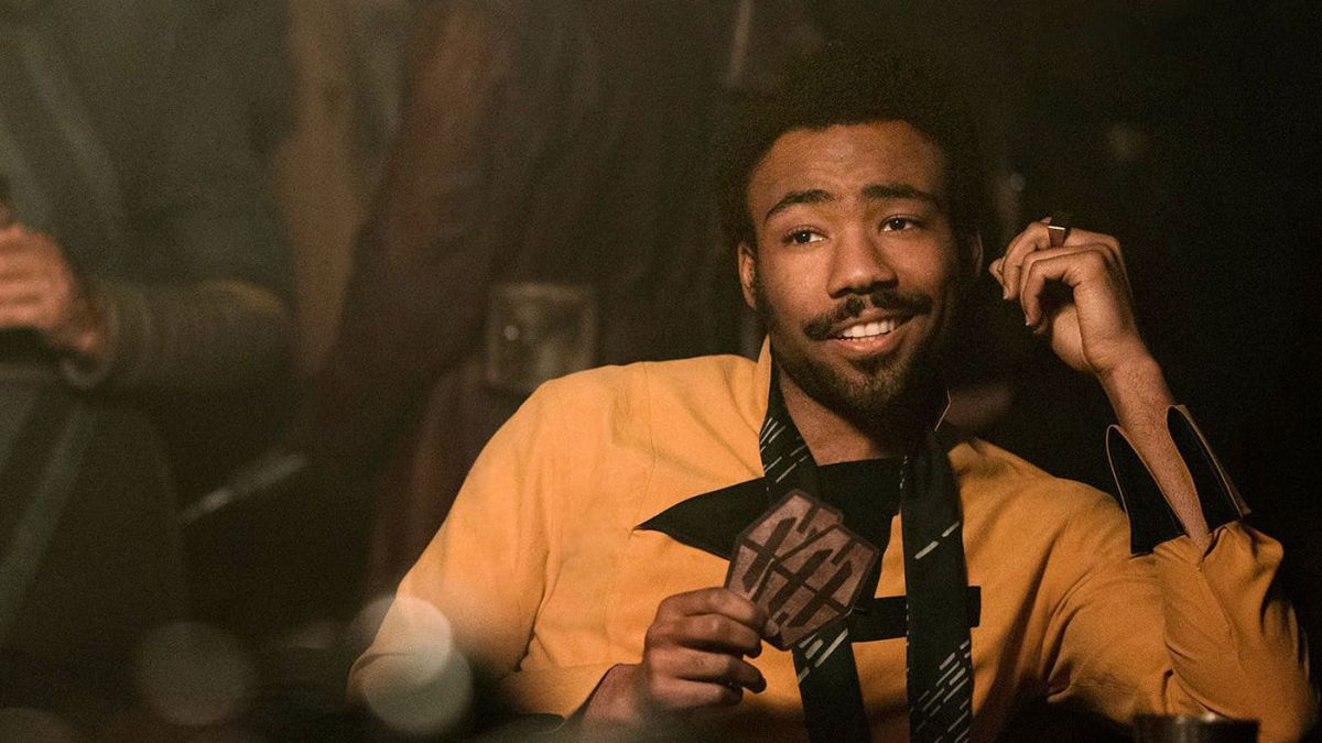 Lando interpretado por Donald Glover