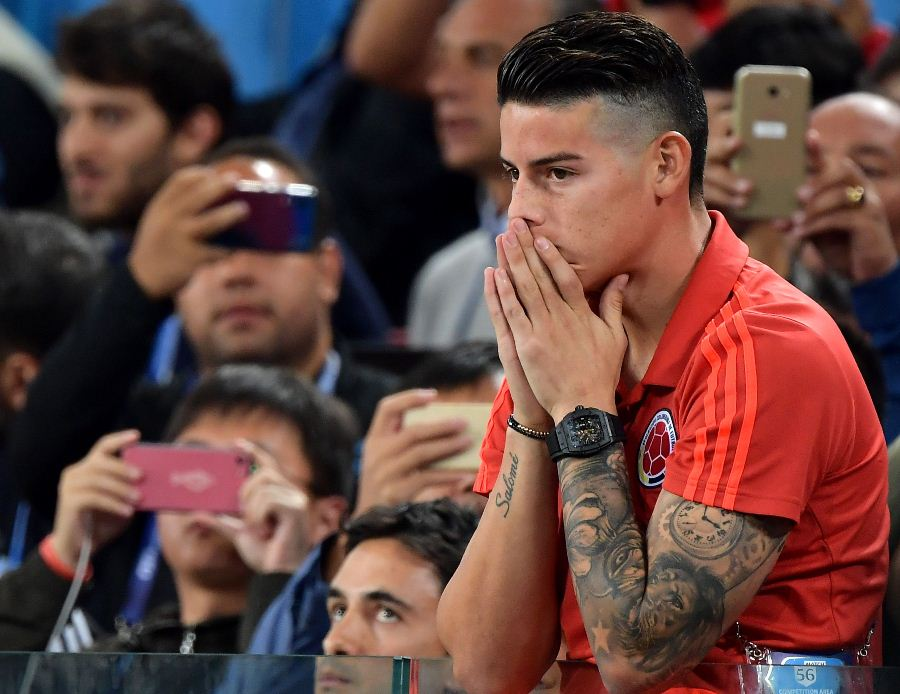 James pasó sin pena ni gloria por Rusia-2018. Foto: EFE/END